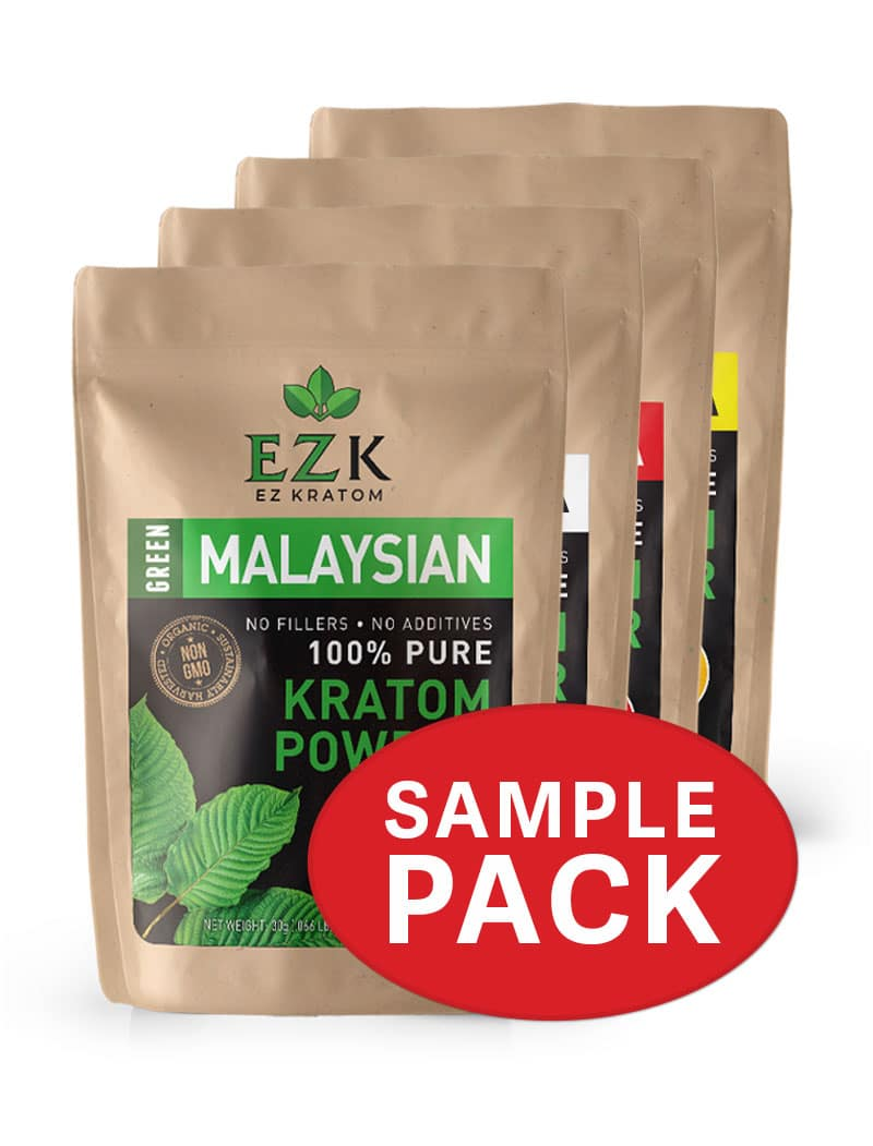 Kratom Sample Pack (4 Strains/28 Grams Per Strain)