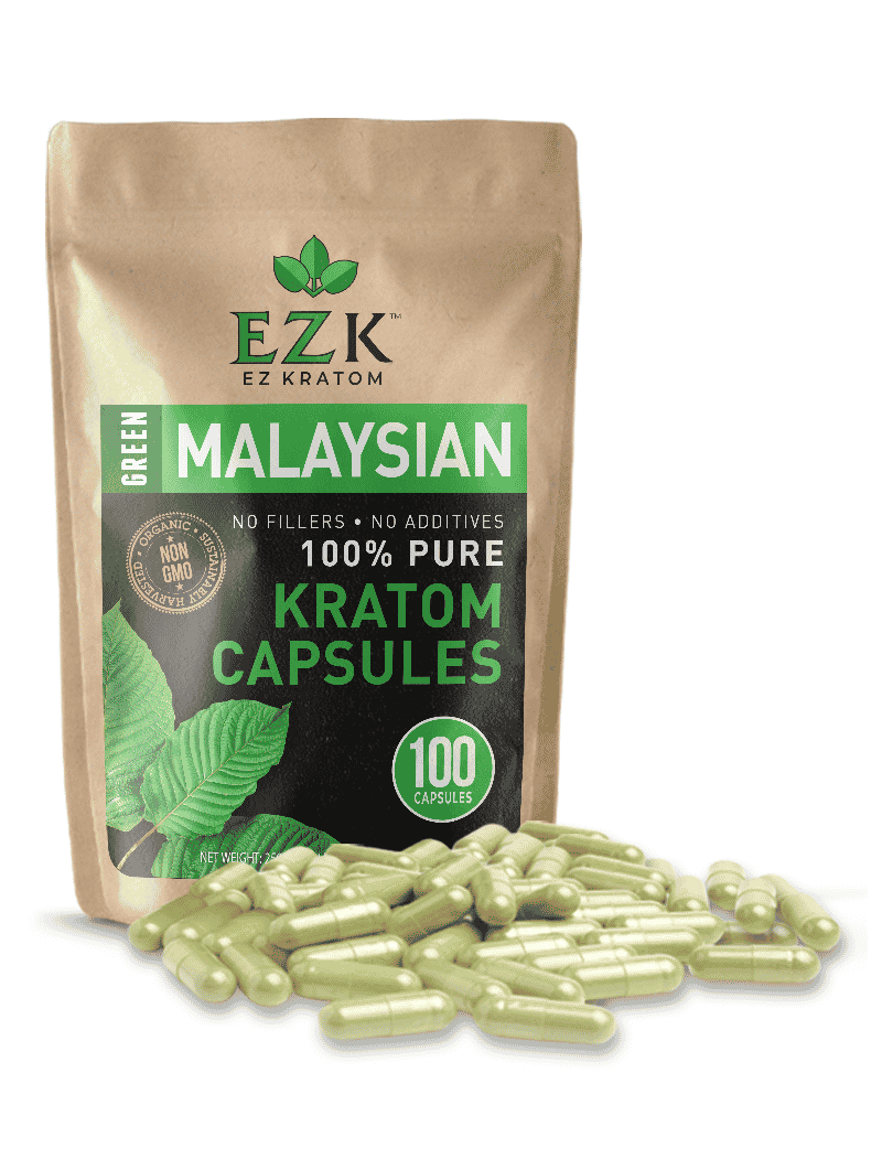 Green Malaysian Kratom Capsules (Size 00 or 000)