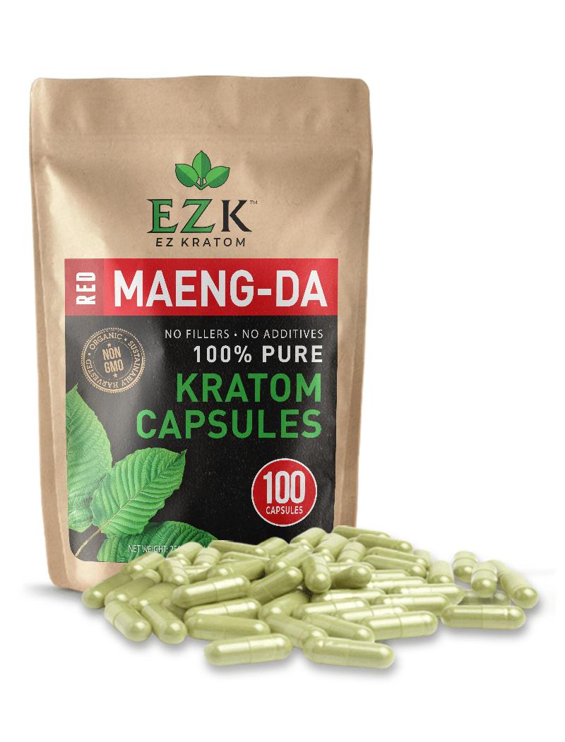 Red Maeng Da Kratom Powder Capsules   EZ Kratom Reviews