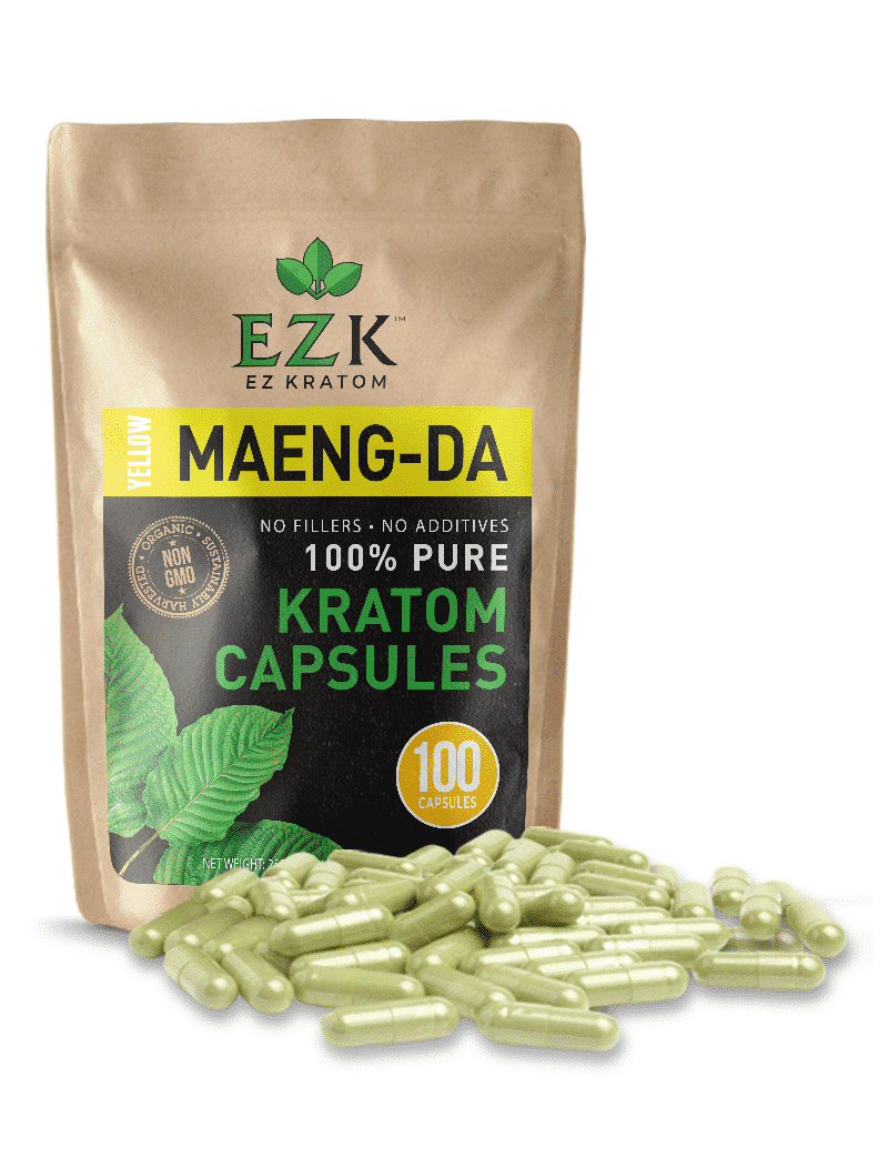 Yellow Maeng Da Kratom Powder Capsules | Bulk Kratom